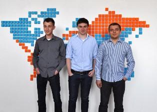 Brainly's co-founders, from right: Łukasz Haluch, Michał Borkowski, and Tomasz Kraus.